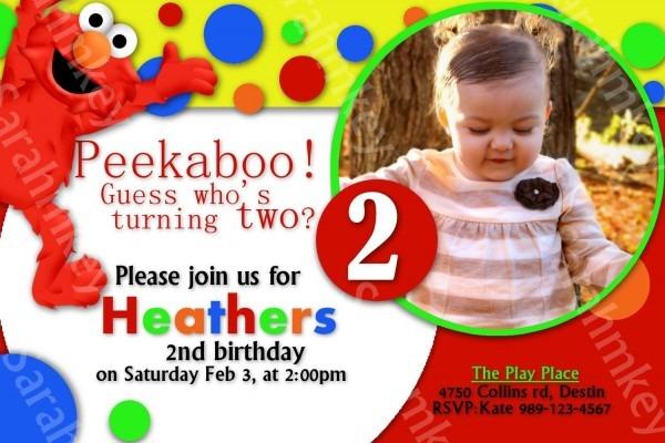 Elmo Birthday Invitations Printable Free