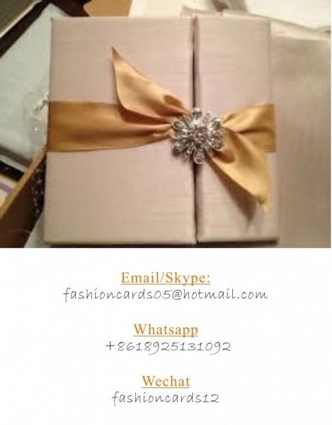 Online Diy Fantastic Frabric Silk Wedding Invitaiton  Silk Wedding