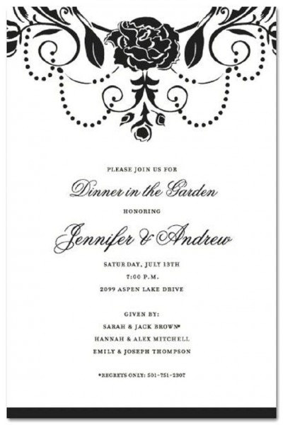 Formal Party Invitation Example