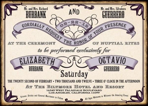 1920's Style Wedding Invitation Set,roaring 20's Wedding