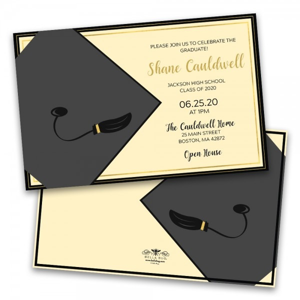 Graduation Cap Personalized Graduation Party Invitation – Bella Bug
