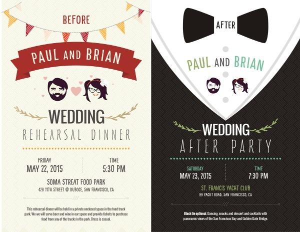Elegant, Playful, Wedding Postcard Design For A Company By