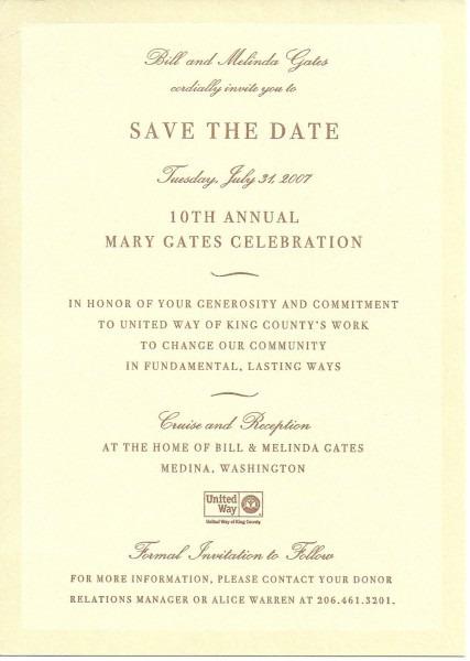 Donor Event Invitation Example