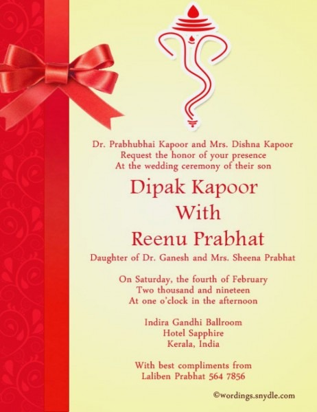 29+ Great Image Of Indian Wedding Invitation Wording