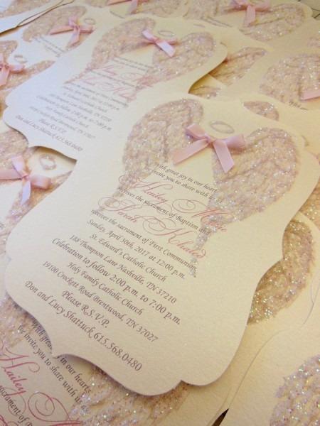 Shimmer Angel Wing Invitation