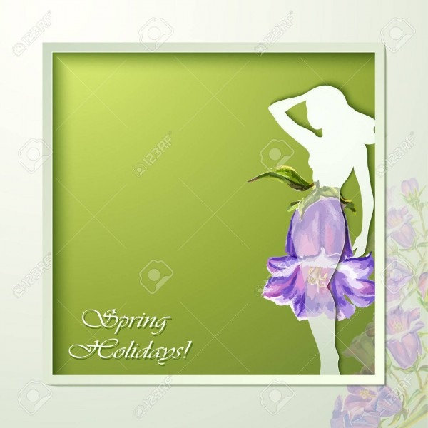 Spring Flowers Invitation Template Card  Wedding, Marriage, Bridal