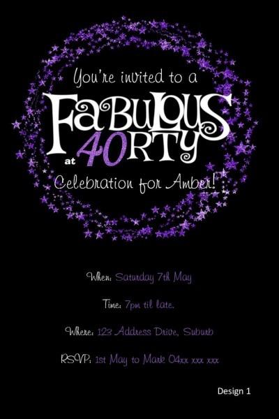 40 Invitations Birthday — Birthday Invitation Examples