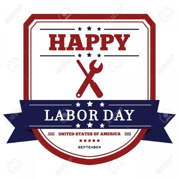 Happy Labor Day Invitation Royalty Free Cliparts, Vectors, And