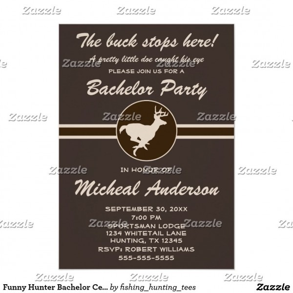 Funny Hunter Bachelor Celebration Invitation