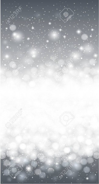 Silver Shiny Winter Christmas Snowflake Invitation Card Background