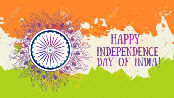 Ornametal Indian Independence Day With Mandala  Invitation Card