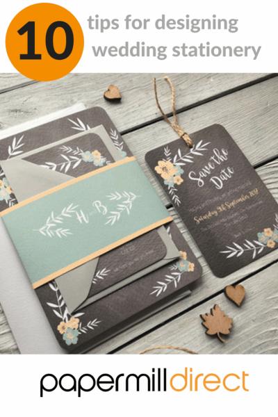 10 Tips For Designing Wedding Stationery