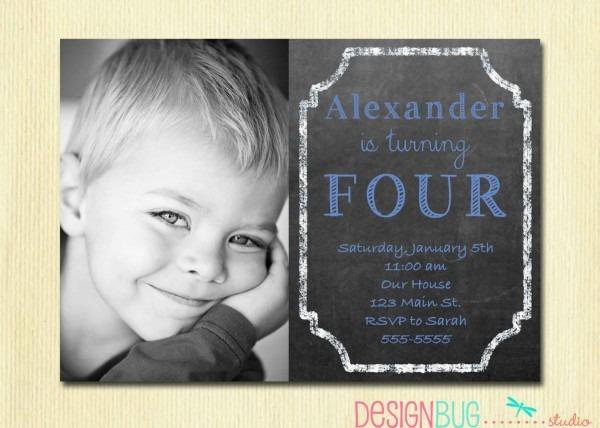 5 Year Old Birthday Party Invitations – Happy Holidays!