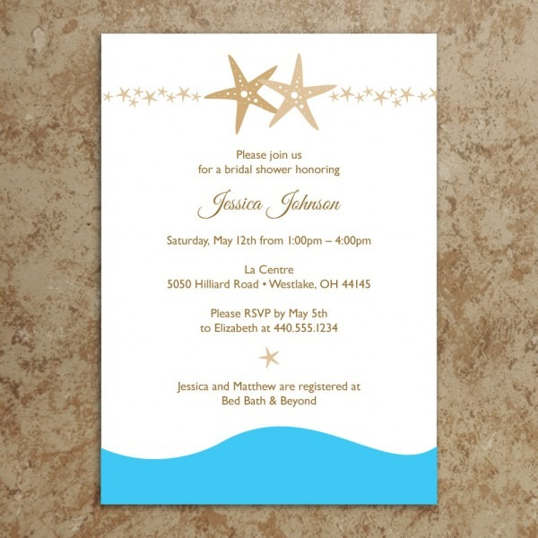 5 Best Images Of Beach Wedding Invitations Printable Types Of