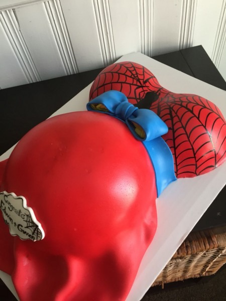 Spiderman Baby Shower Cake Belly Cake Spiderman Cake