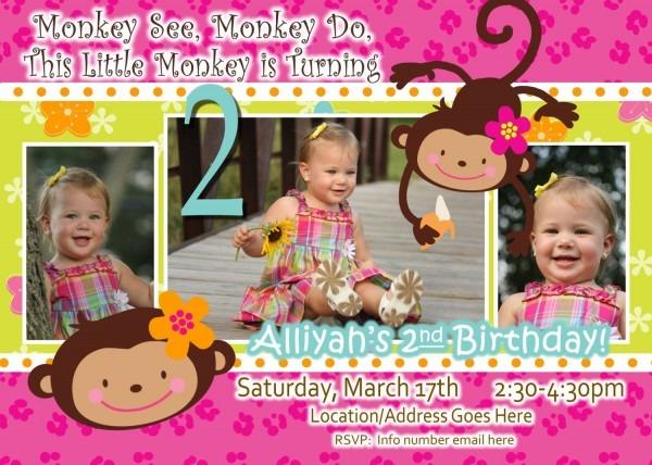 Monkey Love Invite