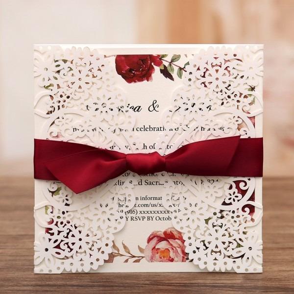 Amazon Com  Dream Bulit Square Wedding Invitations Cards Fall