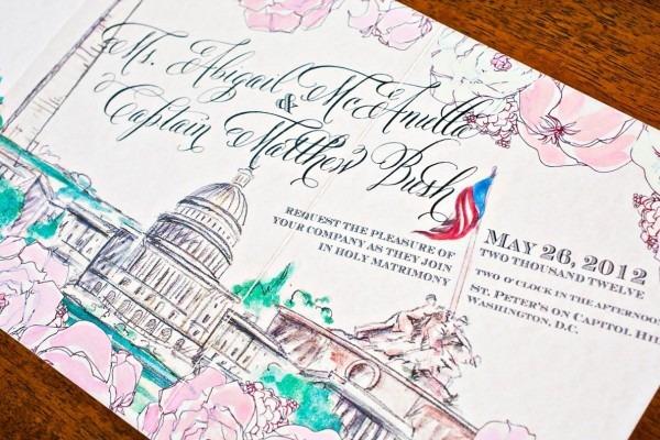 Washington Dc Inspired Invitations Momental Designs1 550x366 Hand