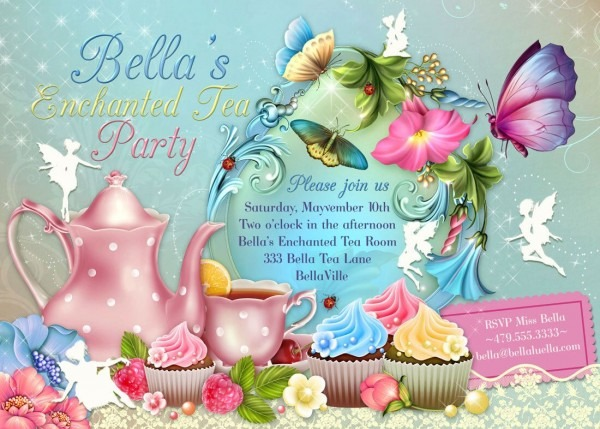 Fairy Tea Party Invitation, Birthday Tea Party, Tea Party, Garden