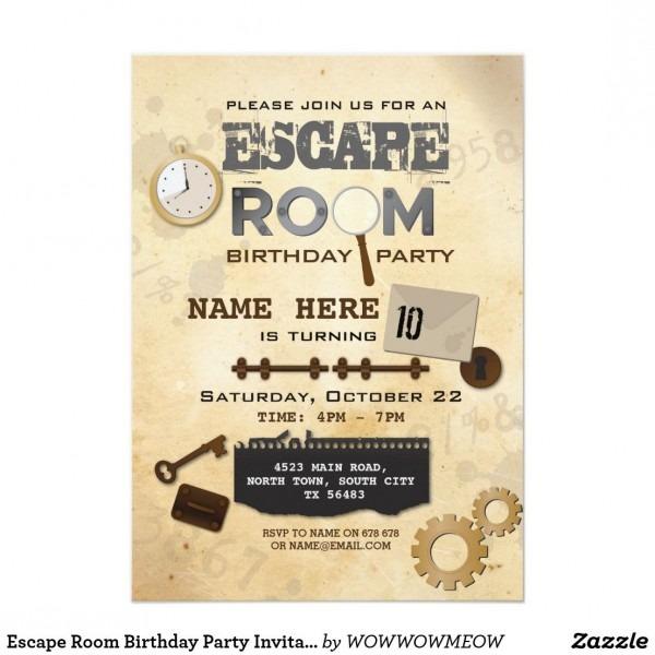 Free Escape The Room Invitations