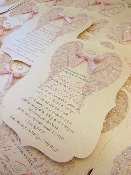 Amazon Com  Shimmer Angel Wing Invitation  Handmade