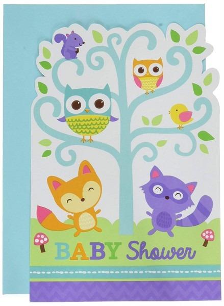 Amazon Com  Amscan Woodland Baby Shower Postcard Invitations, 48