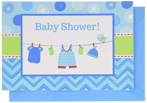 Amazon Com  Amscan  Baby Shower Postcard Invitations, 48 Ct   Toys