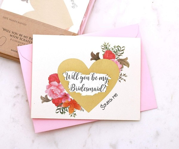 Amazon Com  8 Bridesmaid Proposal Scratch Off Cards