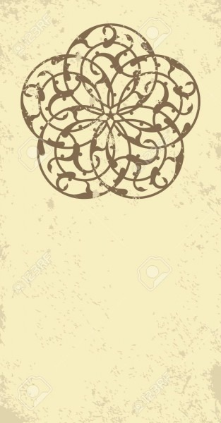 Invitation, Card With Ethnic Arabesque Element  Old Paper