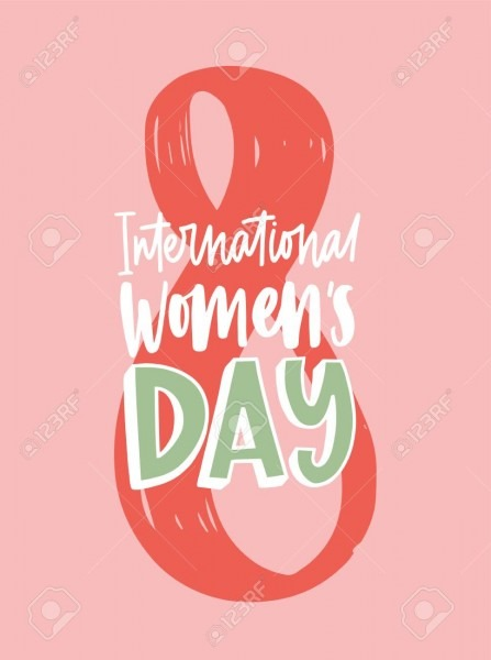 International Womens Day Greeting Card Or Party Invitation