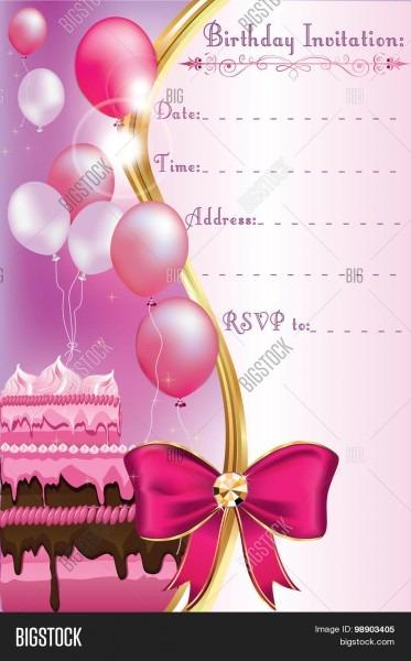 Birthday Invitation Vector & Photo (free Trial)