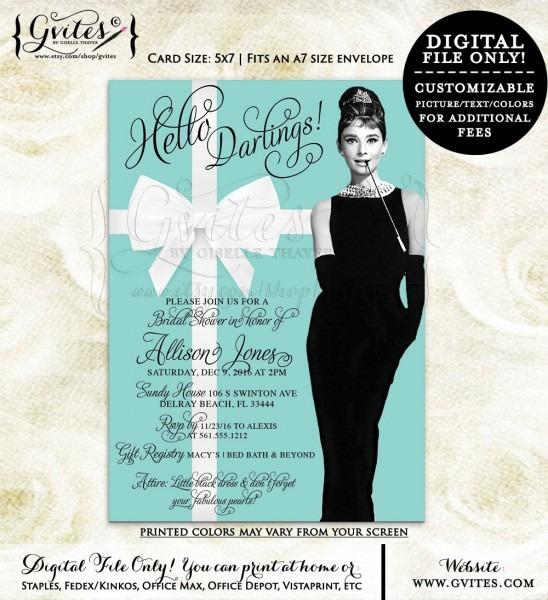 Breakfast At Tiffany's Bridal Shower Invitations – Gvites Blog