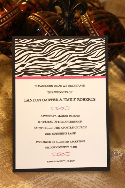Animal Print Wedding Invitations 95 Best Zebra