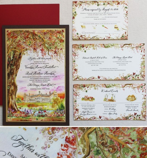 Autumn Woodland Wedding Invitation
