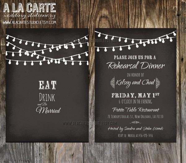 Chalkboard Wedding Invitation Template Sample
