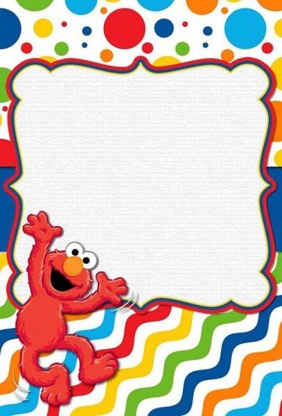 Free Online Elmo Invitation Template