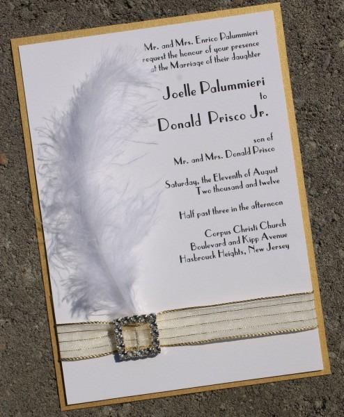 Roaring 20's Inspired Wedding Invitation