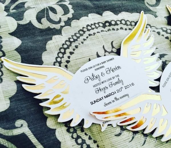 Heaven Sent Angel Wings Invitations