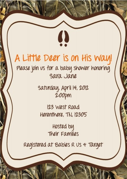 Baby Shower  Camouflage Baby Shower Invitations  Baby Shower
