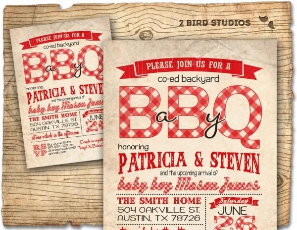 Brilliant Baby Q Shower Invitation B A Y Barbecue Il Decoration