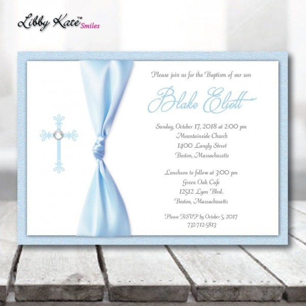 Boy Baptism Invitation Boy Blue Baptism Invitation Elegant