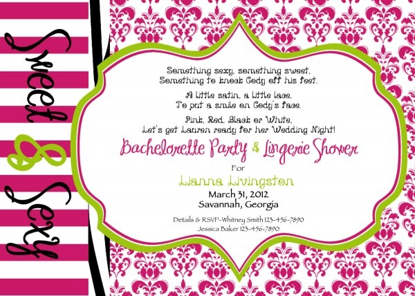 Party Invitation Template Bachelorette Party Invite Wording Free