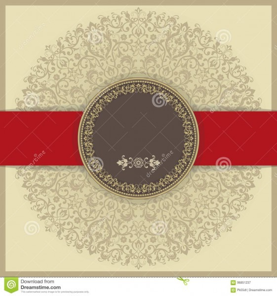 Baroque Invitation Card In Old