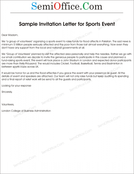 Best Solutions Of Sample Invitation Letter For Church Fundraising