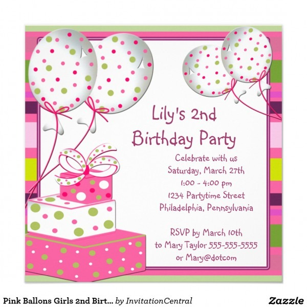 Birthday Card Invitation Ideas