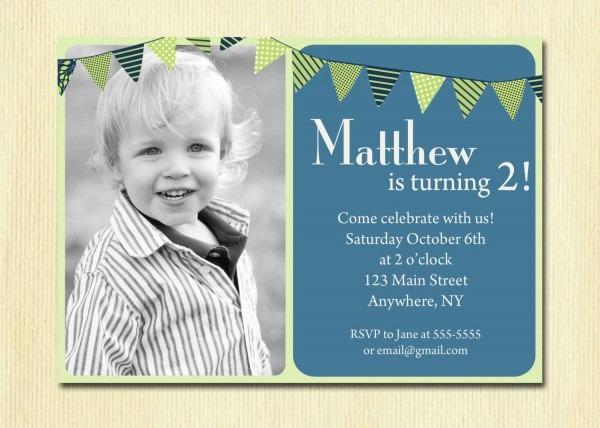 97+ 2nd Year Birthday Invitation Wording