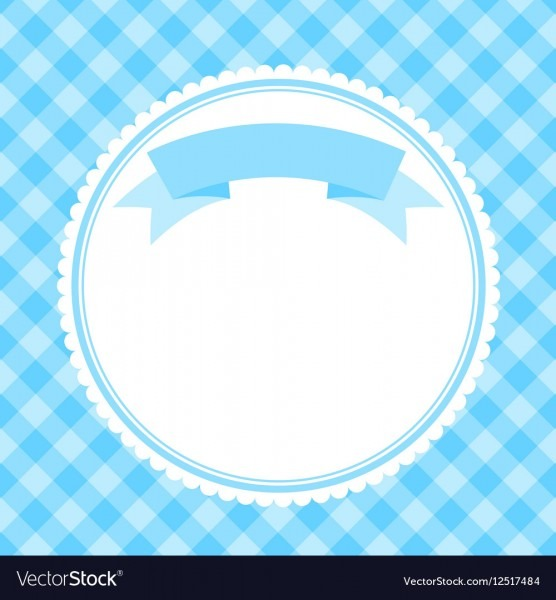 Blue Frame For Invitation Card Royalty Free Vector Image