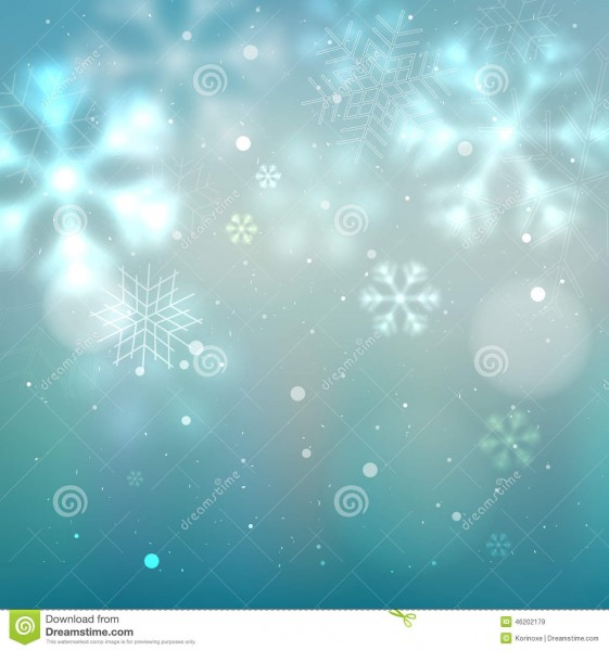 Blue And Turquoise Winter Background Stock Vector