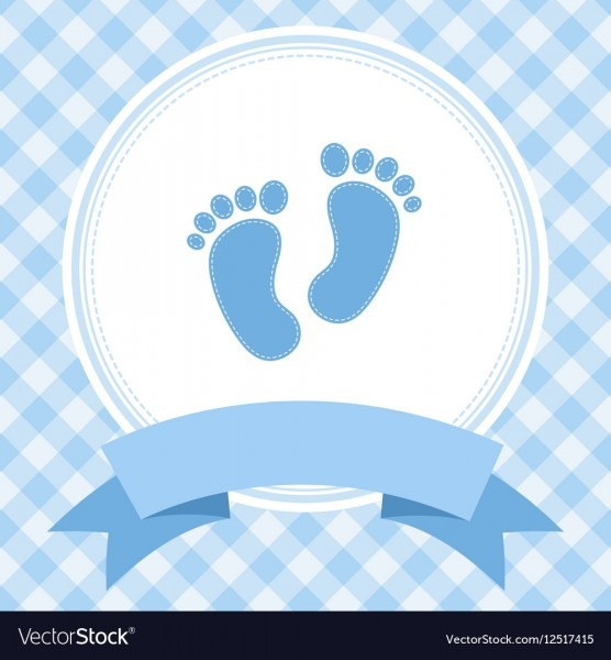 Boy Baby Shower Invitation Card Royalty Free Vector Image