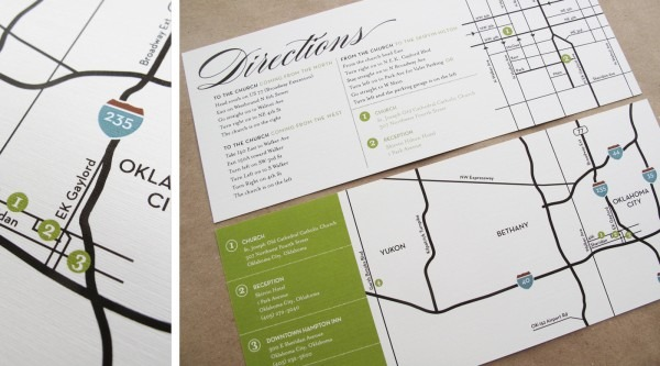 Wedding Invitation Directions